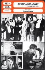BESSIE A BROADWAY - Love,Capra (Fiche Cinéma) 1928 - The Matinee Idol