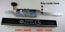 Gliderol garage door key cut by / code / number 23001-23400 19001-19420