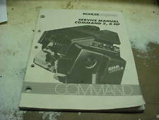KOHLER COMMAND 5-6 HP SMALL ENGINE LAWN MOWER TRACTOR REPAIR BOOK MANUAL PARTS