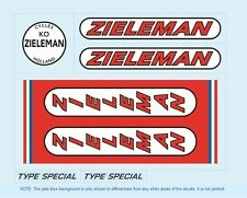 Zieleman Bicycle Decals-Transfers-Stickers #1