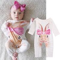 Newborn Infant Baby Girls Infant Romper Jumpsuit Bodysuit Clothes Outfit 0-24M