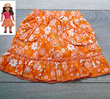 "American Girl 18"" Doll Clothes Gardening Outfit II SKIRT Orange Flowers Ruffles!"
