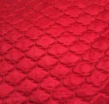 """Red Suede Morocco Quilted Auto Headliner Headboard Fabric 3/8"""" Foam Back fabric"""