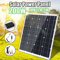 30-200W 18V Mono Solar Panel Kit USB 5/12V Flexible Controller Car Boat Charger