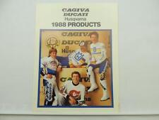 Vintage 1988 Cagiva Ducati Husqvarna Motorcycle Apparel Catalog L6691