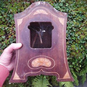 ANTIQUE INLAID ART NOUVEAU MANTLE CLOCK CASE for restoration 32 X 26 x11cm