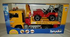 Bruder Flatbed tow truck crane COE Jeep day & night made in Germany 1:16 scale