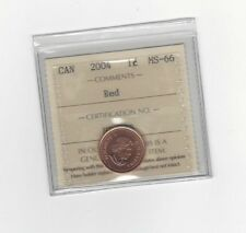 **2004** ICCS Graded Canadian Small One Cent, **MS-66**