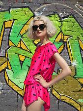 Damen Longshirt Shirt kurzarm pink Disko Strand 90er True VINTAGE woman t-shirt