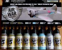 AV Vallejo Soviet Air Force VVS Pre-War To 1941 Acrylic Paint Set For Models