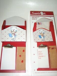 1991 CAMPBELL SOUP COMPANY CAMPBELL KIDS MEMO RACK IN ORIGINAL BOX-NEVER USED