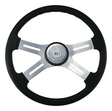 """4 Spoke 18"""" Classic Steering Wheel 3-Hole for Freightliner, Peterbilt and more"""