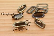 eyelets copper with washer grommets anti brass oval 40 sets 12 mm CK52
