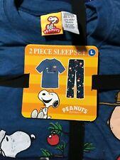 Men's L Peanuts Snoopy Mens Happy Holidays  Pajama Set