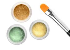 10 Grams Each CONCEALER CORRECTOR GREEN YELLOW & BISQUE KIT WITH FREE BRUSH