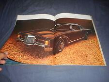1971 Lincoln Continental and continental Mark 3 Color Catalog Brochure Prospekt