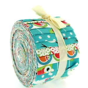 100% Quilting Cotton High Quality Christmas Baby Rolls Fabric Blue 20 Strips