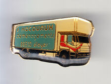 RARE PINS PIN'S .. CAMION TRUCK SCANIA TRANSPORT HOCOUAUX ELOYES 88 ~CO