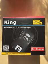 Pixel King Canon RF Wireless E-TTL Remote Flash Trigger Transmitter+Receiver