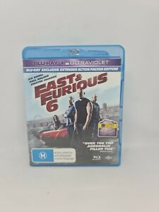 FAST & FURIOUS 6 Extended Edition Blu-ray Region B VGC Free Tracked Shipping