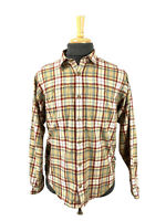 Patagonia Long Sleeve Shirt Size M Organic Cotton Red and Beige Plaid