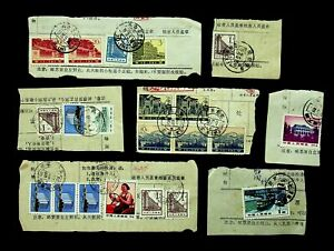 CHINA MIXED SET OF 21v ARCHITECTURE, LANDSCAPE, RAILWAY USED ON 7 PIECES