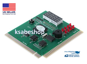 LED 4Digit PC Computer Diagnostic Card Motherboard Mainboard POST Tester PCI ISA