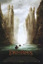 LORD OF THE RINGS FELLOWSHIP MOVIE POSTER 2 Sided BOATS Ver 27x40 PETER JACKSON