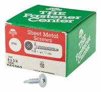 Hillman Truss Head Phillips Drive Self Drillg Screws Steel 8 x 3/4 L 100 per box