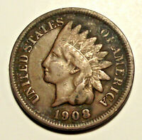 1908 INDIAN HEAD CENT (LOT ML15) **** SEE PHOTOGRAPHS, YOU GRADE! ****