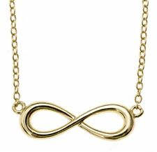 925 Sterling Silver Gold Infinity Pendant Necklace, Great Gift! FREE SHIPPING!