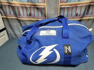 Youth Large Reebok XTK Hockey Set Pads Pants Guards Gloves, Tampa Lightning Bag