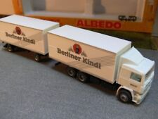 1/87 Herpa Albedo Volvo F12 Berliner Kindl Koffer-Hängerzug 297027