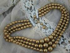 Pearl Gold Vintage Costume Necklaces