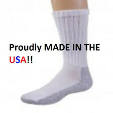 12 Pair PRO TREK Brand Mens Heavy Duty Steel Toe Boot Socks, Size 9-11 USA Made