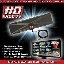ANTENNA TV DIGITALE Indoor 1080P HDTV HD VHF UHF FM Scatola piatto pronto ad alto guadagno UK