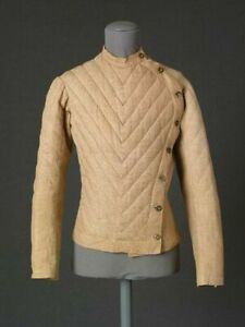 Medieval Camel Color Padded Jacket Reenactment Gambeson