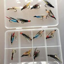 Double mouches noyées pour truite de mer et petits saumon en boîte ensemble 16
