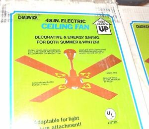 "NEW CAST IRON 48"" Brown 4-Blade CEILING FAN Chadwick Miller AMaZiNg! 94556 NEW"