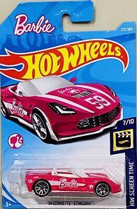 Hot Wheels barbie '14 corvette Stingray 1/2 PRICE SALE (cracked blister)