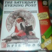 NEW 500 PIECE JIGSAW PUZZLE SANTA'S CHILDREN NORMAN ROCKWELL FACTORY SEALED