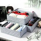 3Pcs/Set Grid Design Underwear Bra Storage Socks Zip Organizer Ties Stocking Box