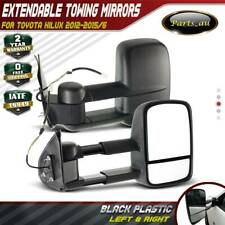 TOP One Pair Black Extendable Towing Mirrors for Toyota Hilux 2012-2015/6