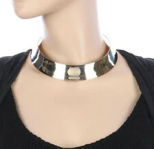Egyptian GOLD CUFF CHOKER Statement AFRICAN Necklace Link Chain Celebrity Insp'd