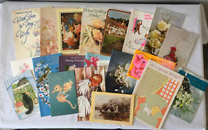 Vintage Used Greetings Cards Job Lot 4 Various X 20