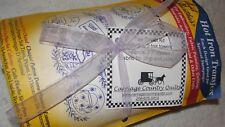 FLORAL TEACUPS Tea Towel Kit Aunt Martha's Hot Iron Transfers #3897