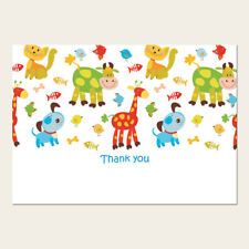 Kids Children's Thank You Cards - Farm Animals - Pack of 10