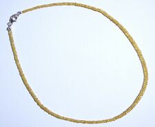 edelsteine24 Echte gelbe Saphir Kette Naturfarbe fac. 2,7-3mm-48ct-45cm Saf-B57