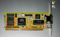✔️TESTED VINTAGE OAK Technology OTI 067 256Kb 16-bit ISA videocard VGA 10890
