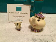 "WDCC Beauty and The Beast - Miniature Mrs. Potts & Chip ""Tea-toting Twosome"" NIB"